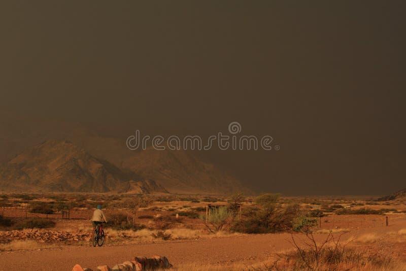Garçon africain en Namibie sur la bicyclette photos libres de droits