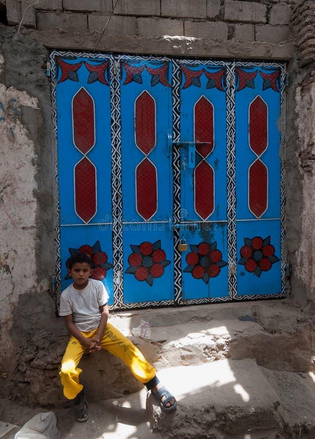 Garçon au Yémen photos libres de droits