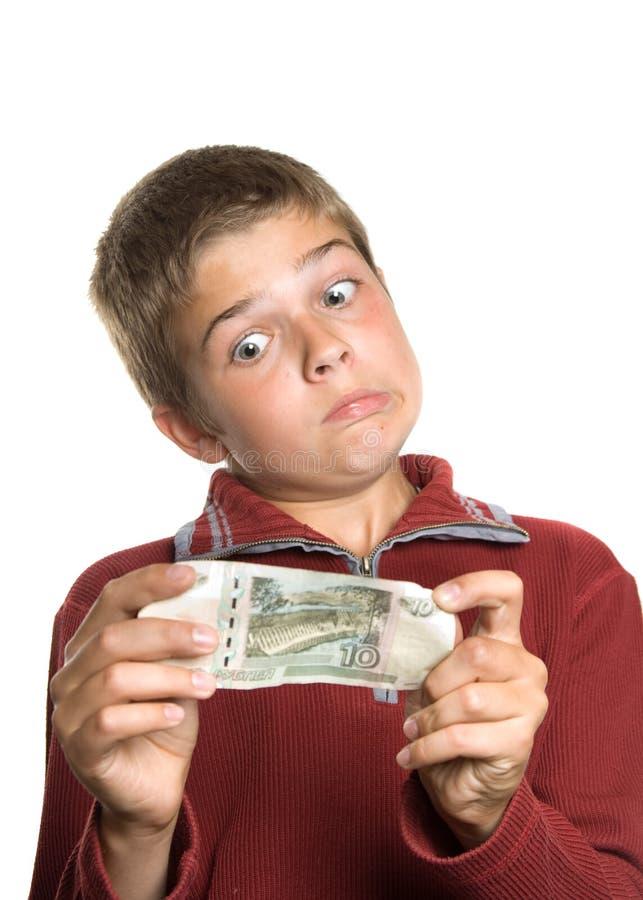 Garçon avec de l'argent photos libres de droits