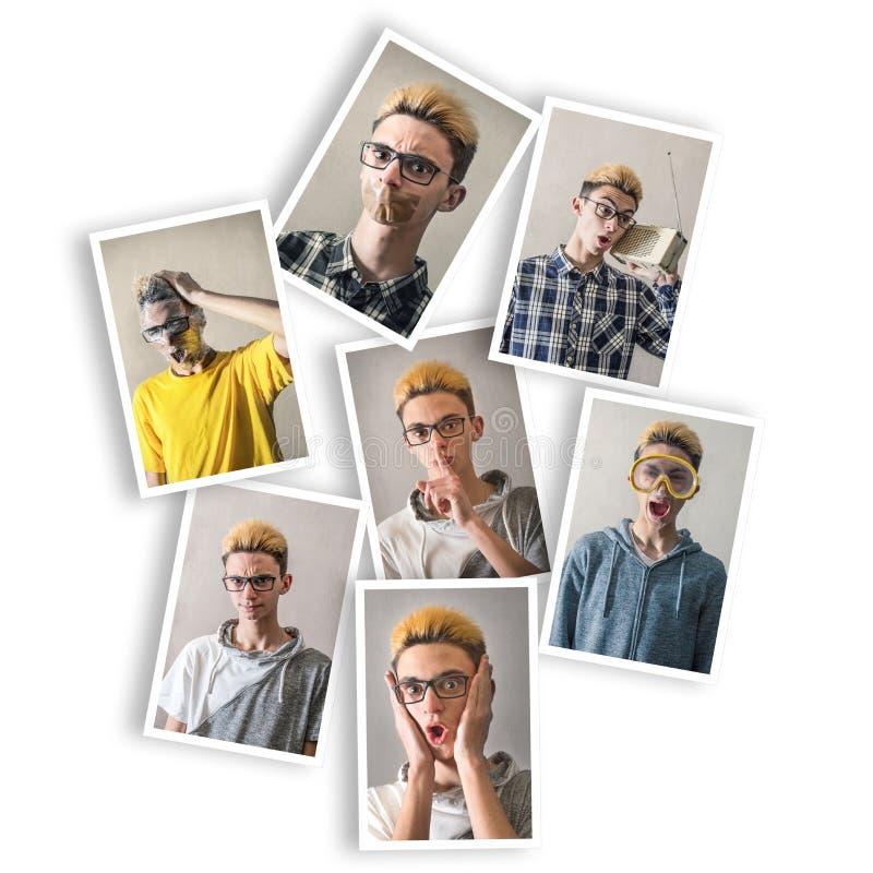 Garçon avec des expressions multiples photo libre de droits