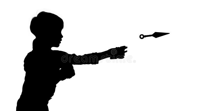 Garçon avec le kunai photo libre de droits