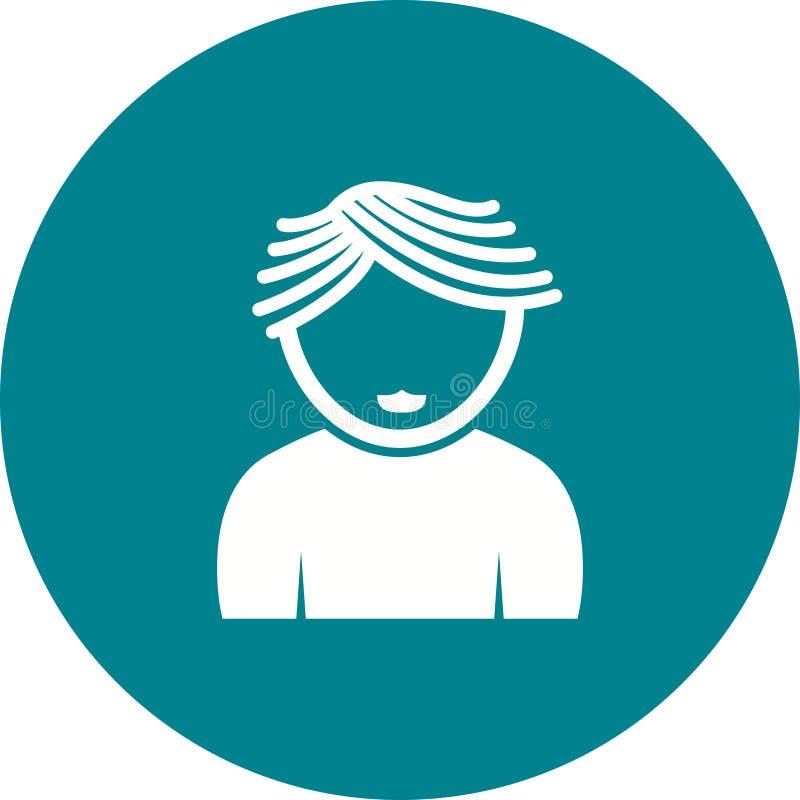 Garçon avec les cheveux onduleux illustration libre de droits