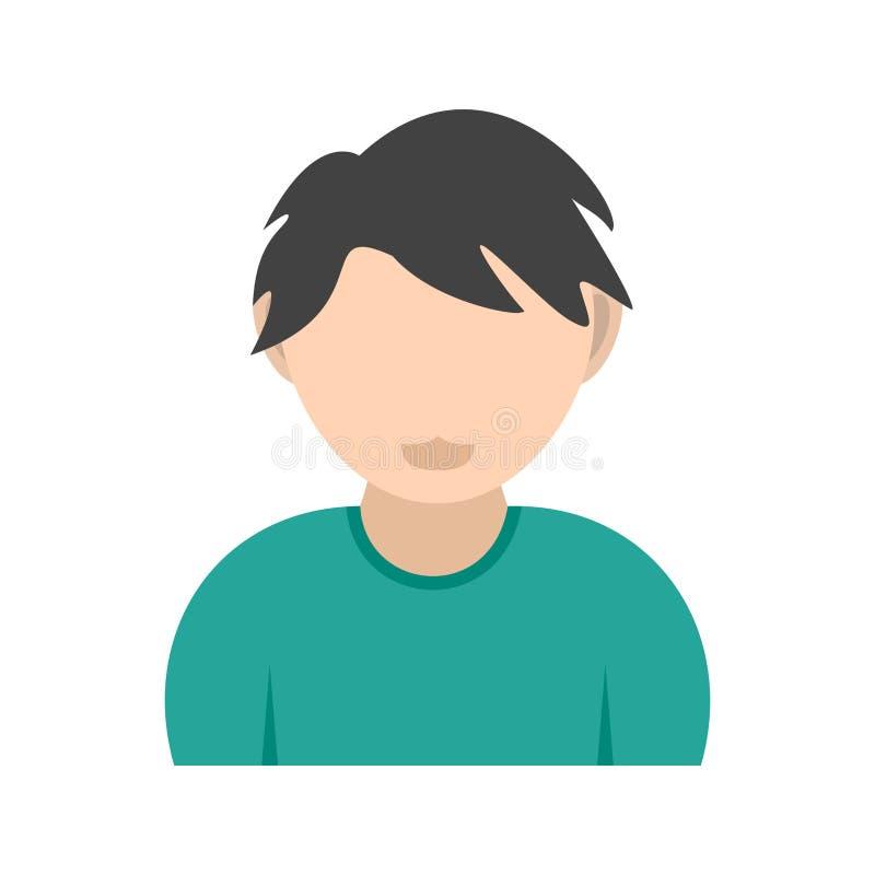 Garçon avec les cheveux onduleux illustration de vecteur