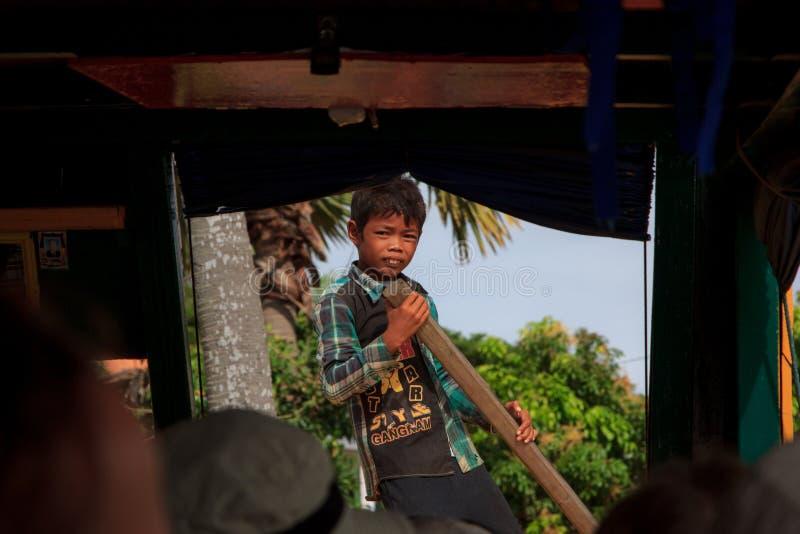 Garçon cambodgien images stock