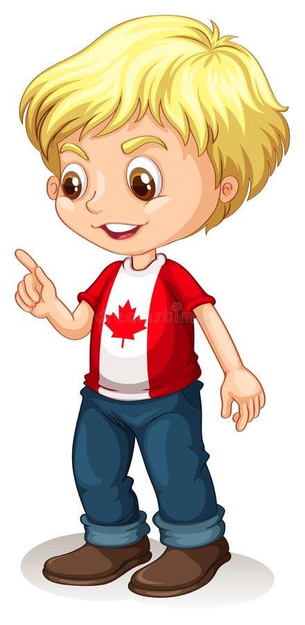 Garçon canadien dirigeant le doigt illustration de vecteur