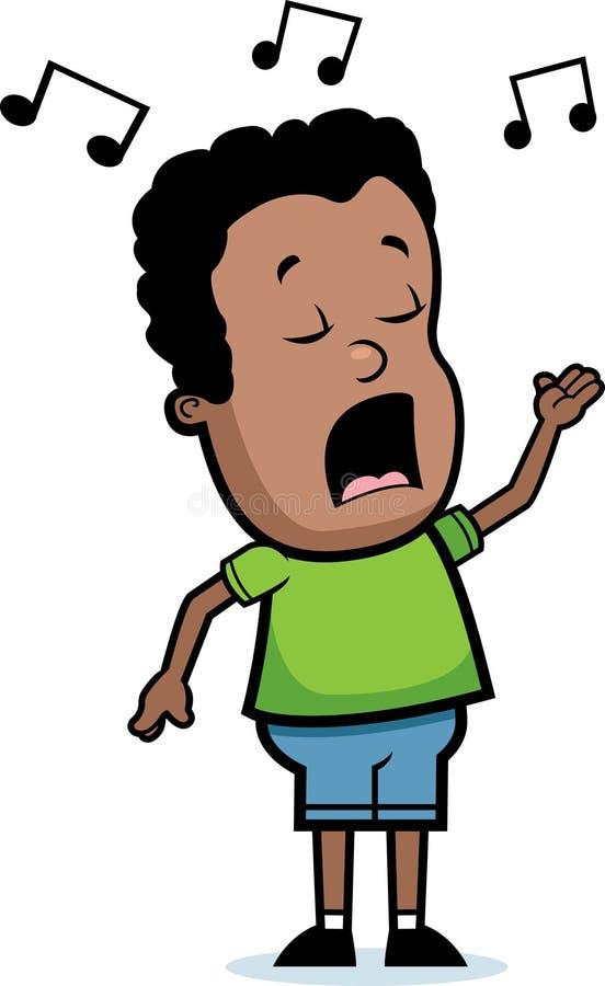 Garçon chanteur illustration de vecteur