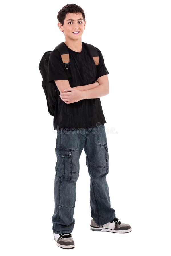 Garçon d'école d'adolescent image stock