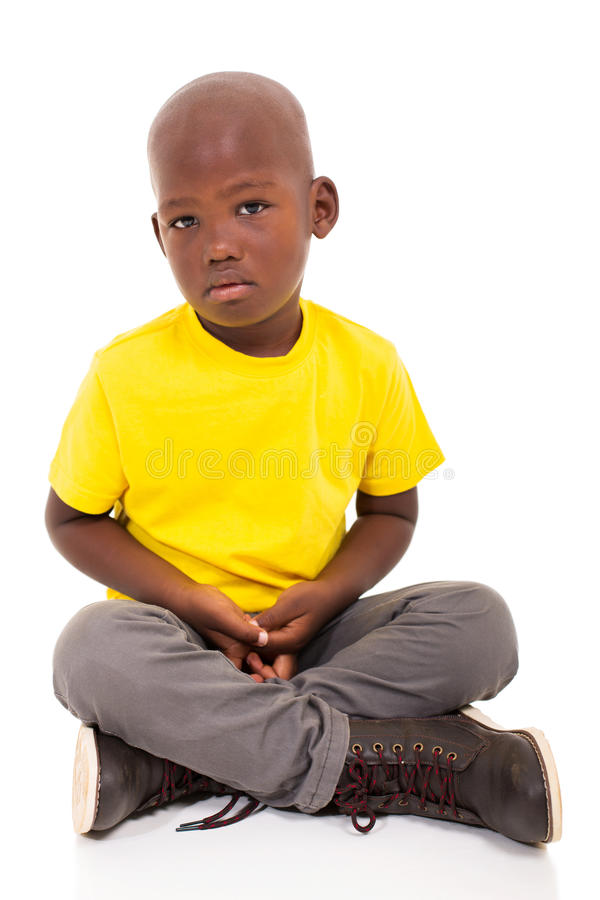 Garçon d'afro-américain images stock