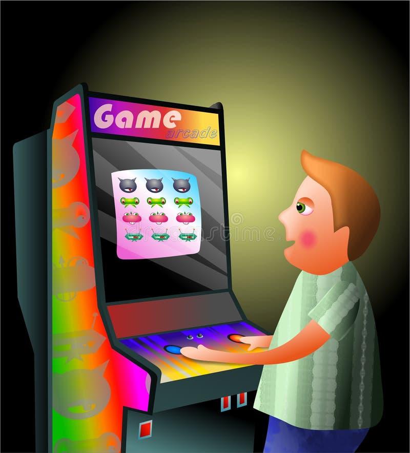 Garçon d'arcade illustration libre de droits