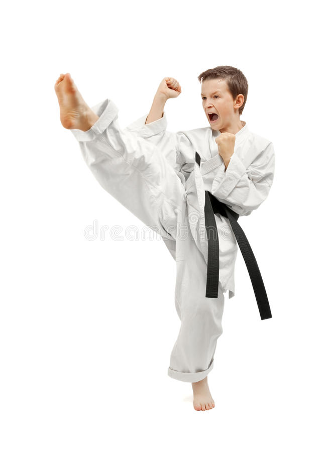 Garçon d'arts martiaux image stock