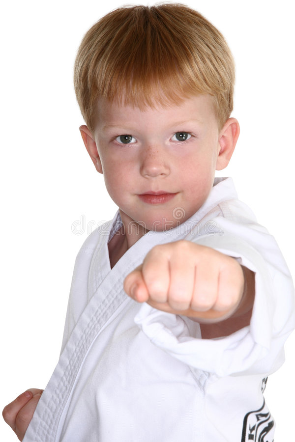 Garçon d'arts martiaux photos stock