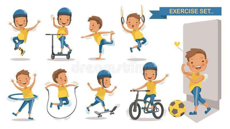 Garçon d'exercice illustration libre de droits