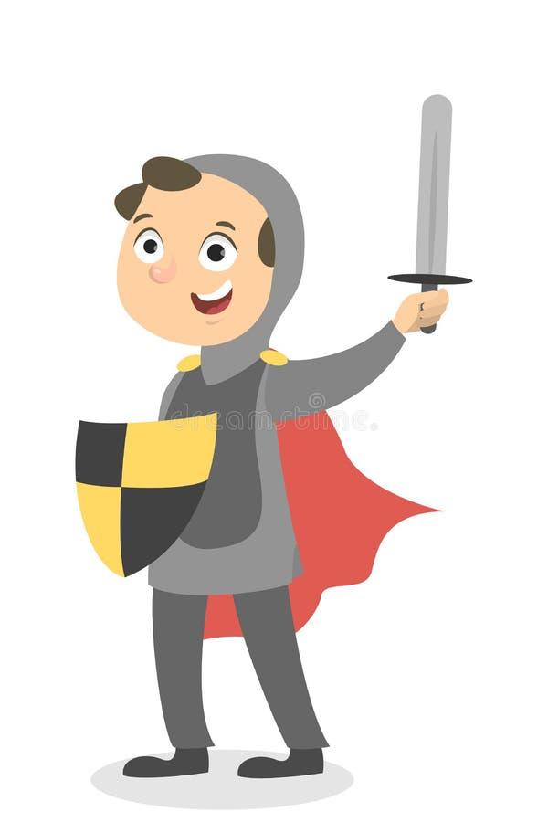 Garçon d'isolement de chevalier illustration stock