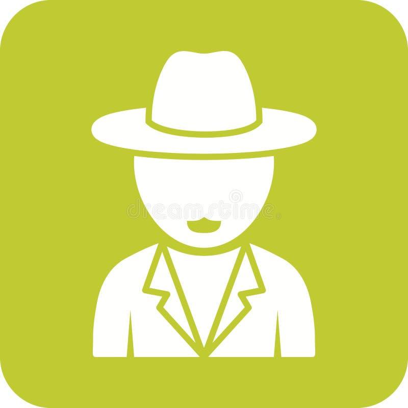 Garçon dans le chapeau occasionnel illustration libre de droits