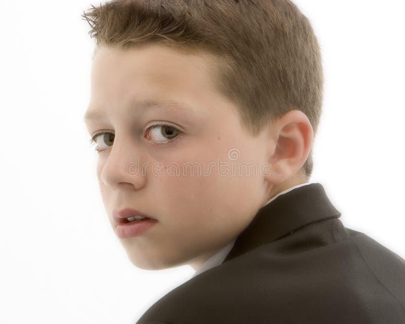 Garçon dans le profil image stock