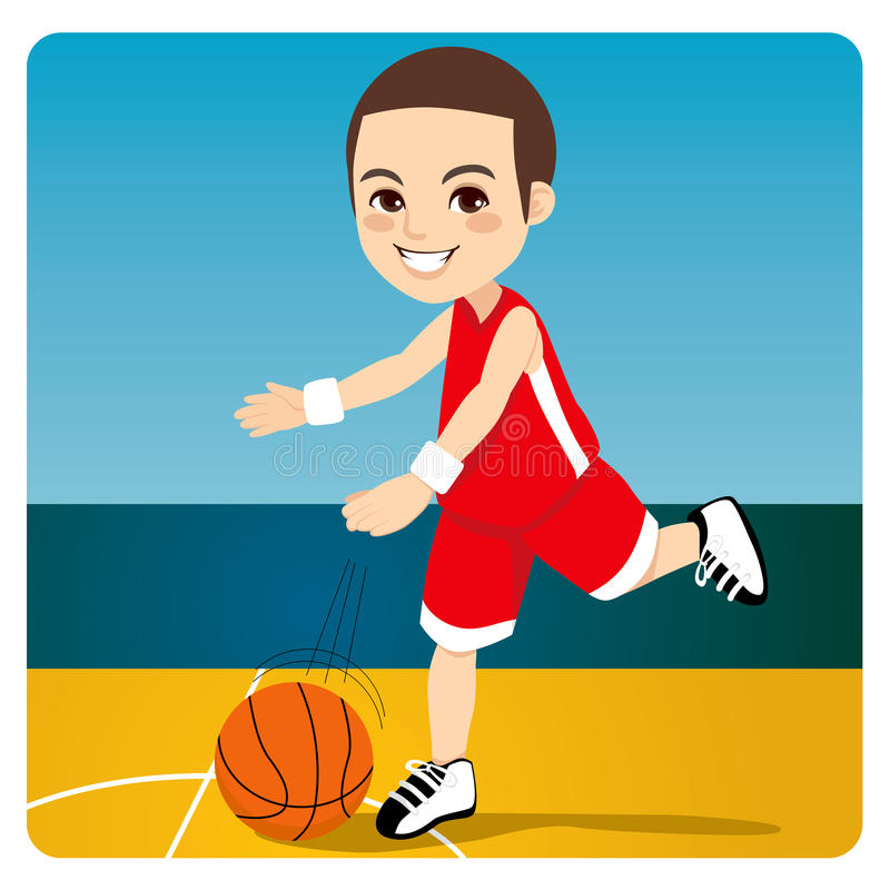 Garçon de basket-ball illustration stock