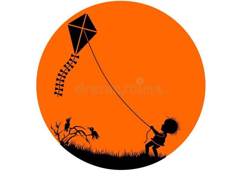 Garçon de cerf-volant photo libre de droits