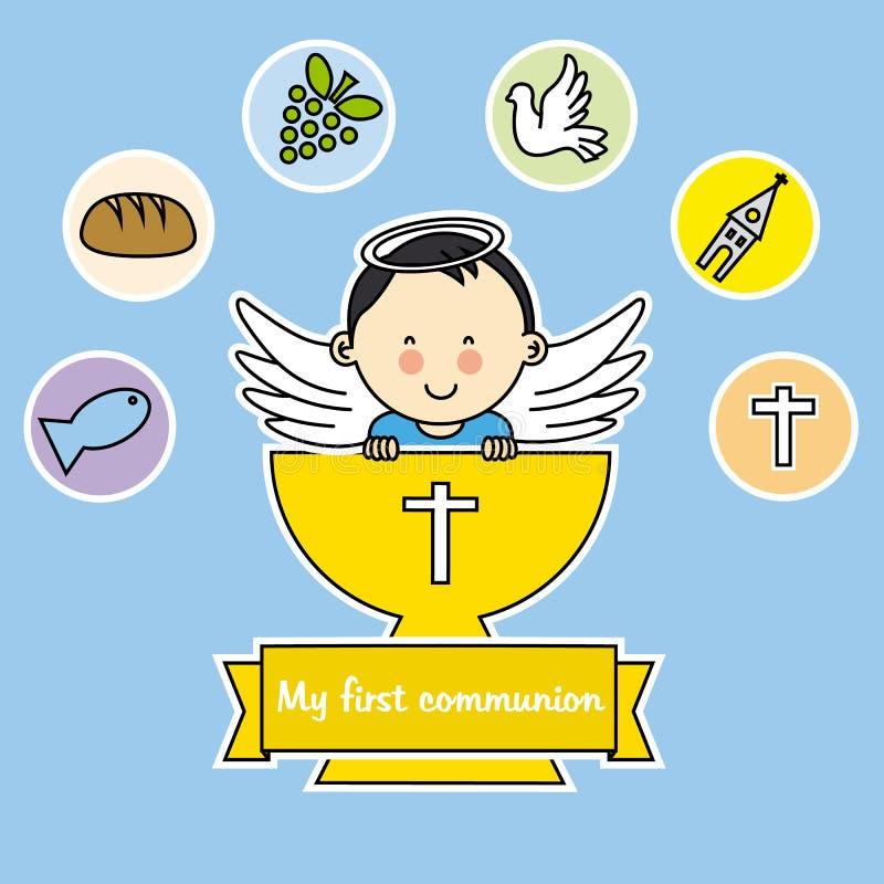 Garçon de communion illustration de vecteur