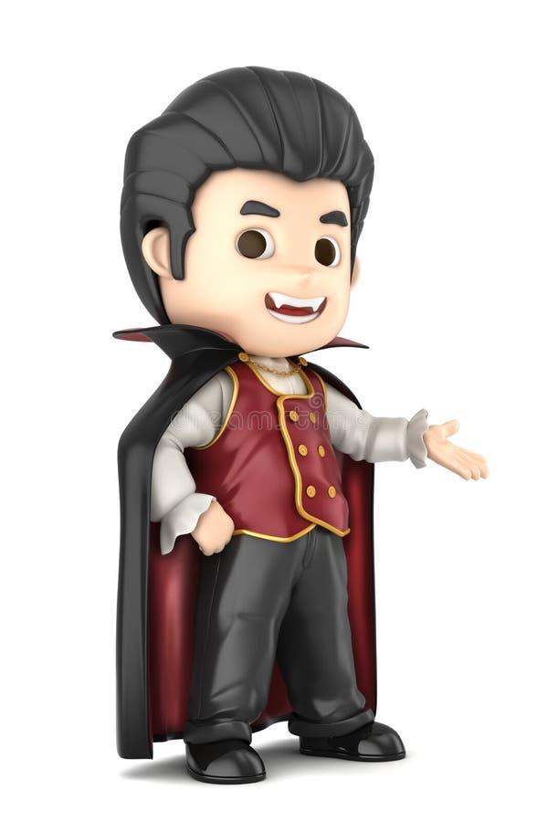Garçon de Dracula illustration de vecteur