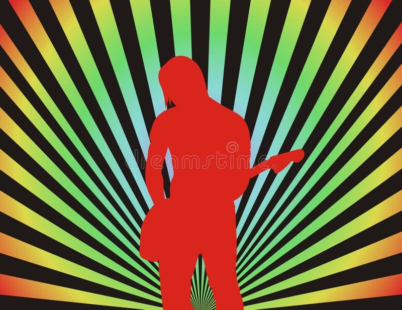 Garçon de guitare illustration stock