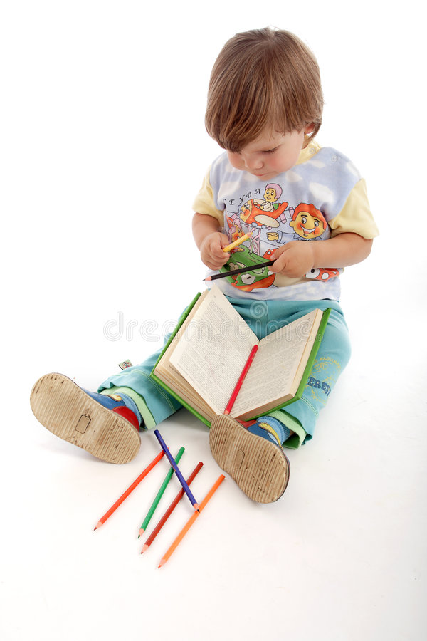Garçon de jardin d'enfants image libre de droits