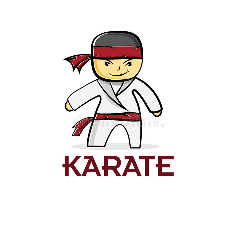 Garçon de karaté de judo illustration stock