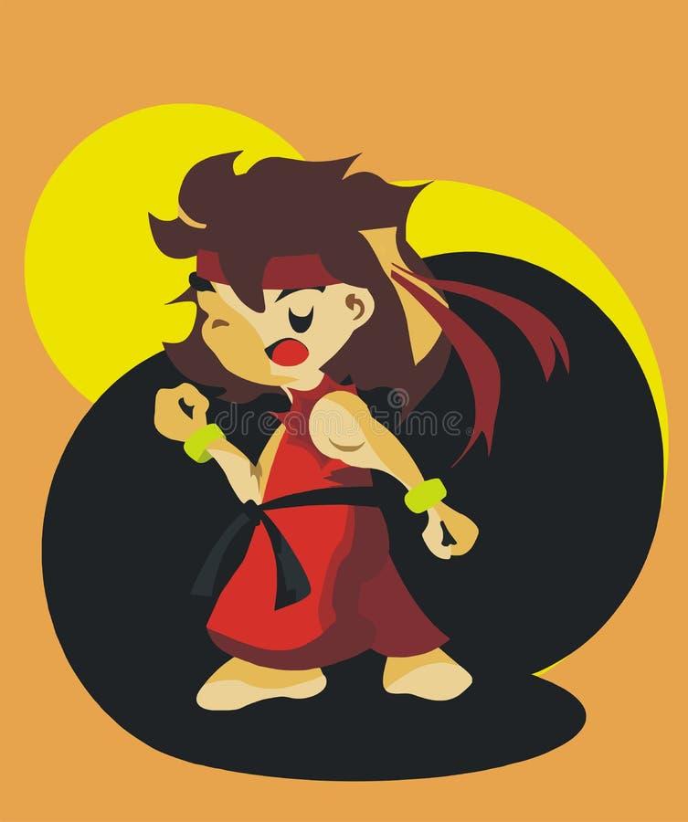 Garçon de Karater illustration de vecteur