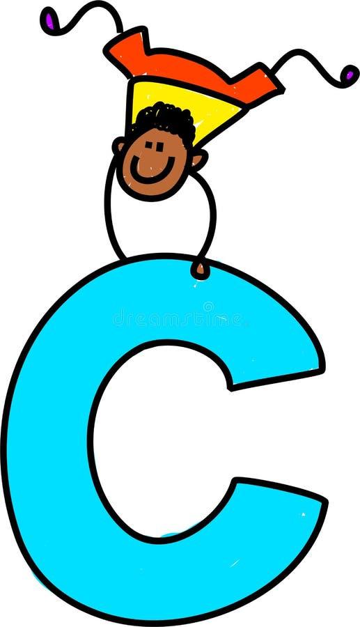 Garçon de la lettre C illustration de vecteur