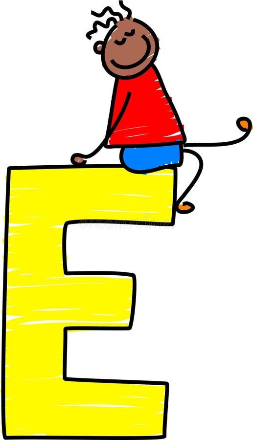 Garçon de la lettre E illustration libre de droits