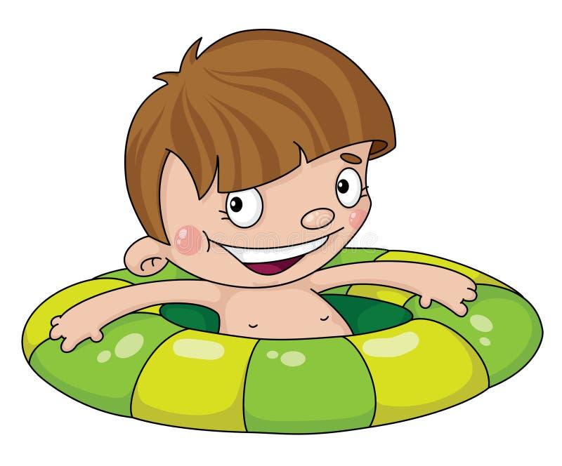 Garçon de nageur illustration stock