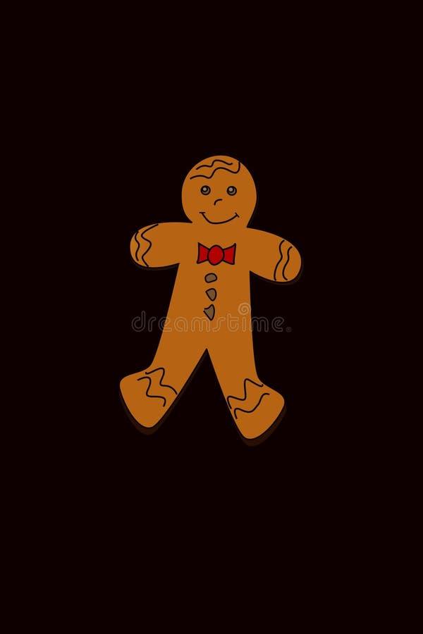 Garçon de pain de gingembre illustration stock