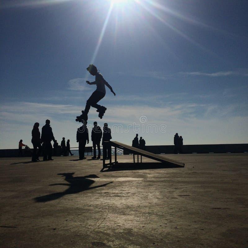 Garçon de patineur images libres de droits