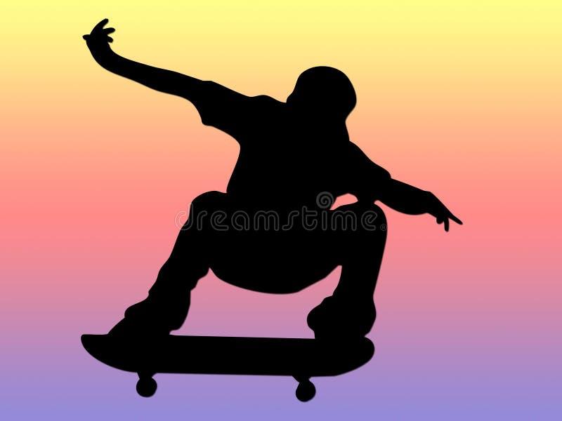 Garçon de patineur illustration de vecteur
