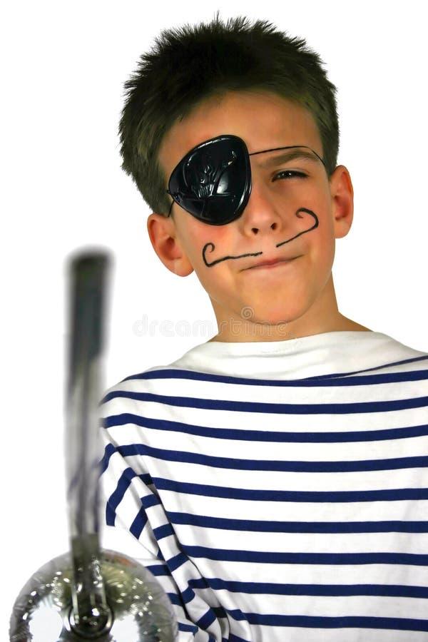 Garçon de pirate à la réception photo stock