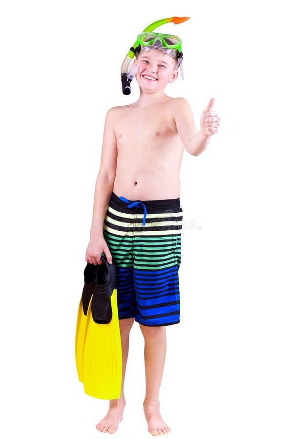 Garçon de plongeur images libres de droits