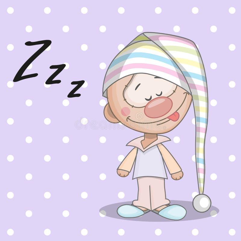 Garçon de sommeil illustration stock