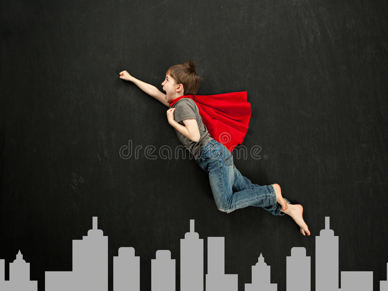 Garçon de super héros images stock