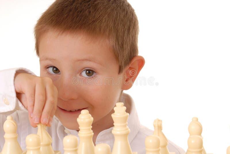 Garçon deux d'échecs photographie stock