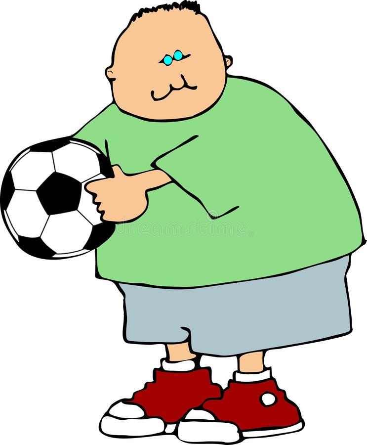 Garçon du football illustration de vecteur