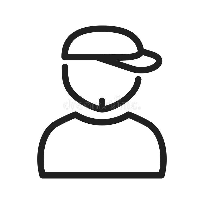 Garçon en Chin Strap illustration libre de droits