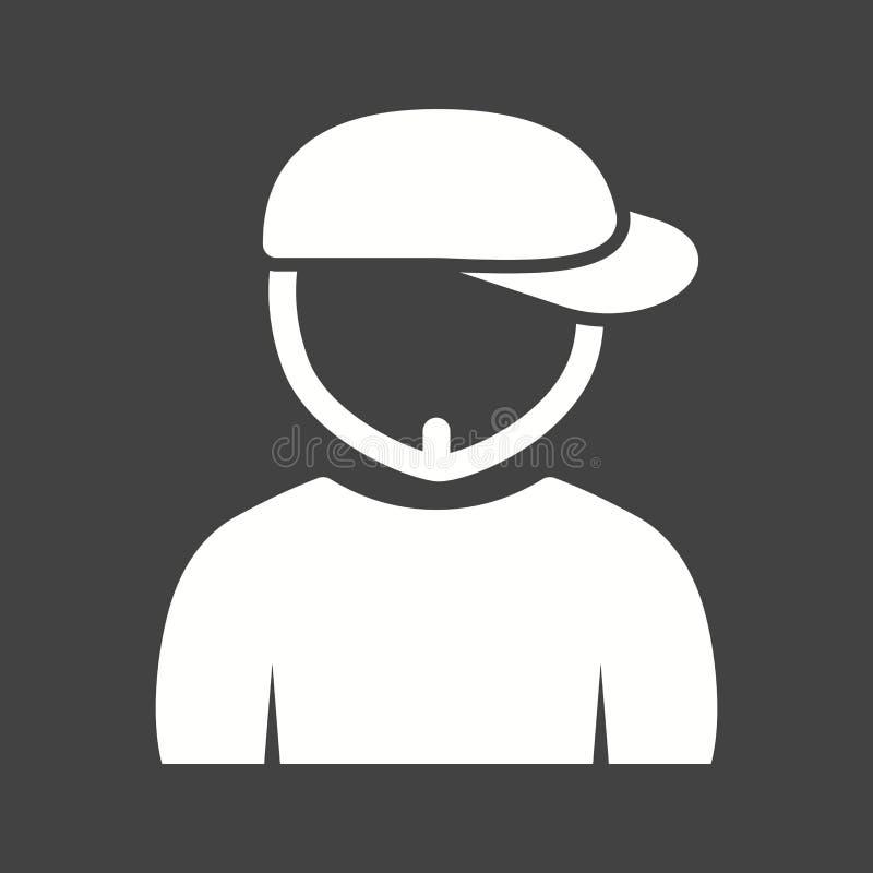 Garçon en Chin Strap illustration de vecteur