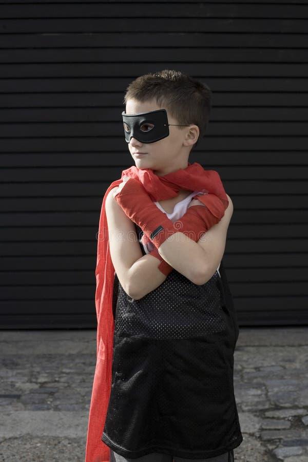 Garçon en Zorro Costume photo stock