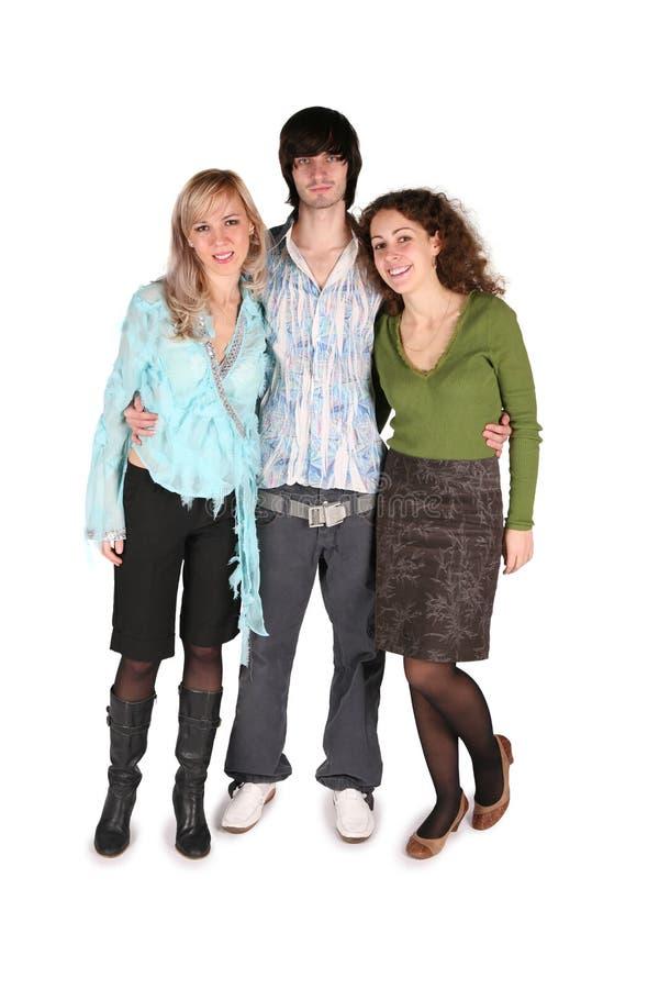 Garçon et deux filles photo libre de droits