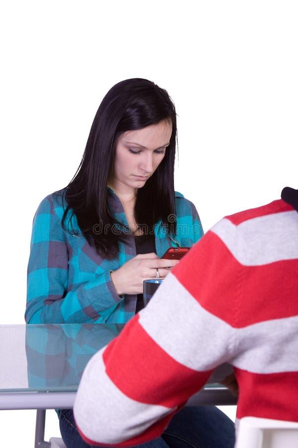 Garçon et fille une datte photos libres de droits