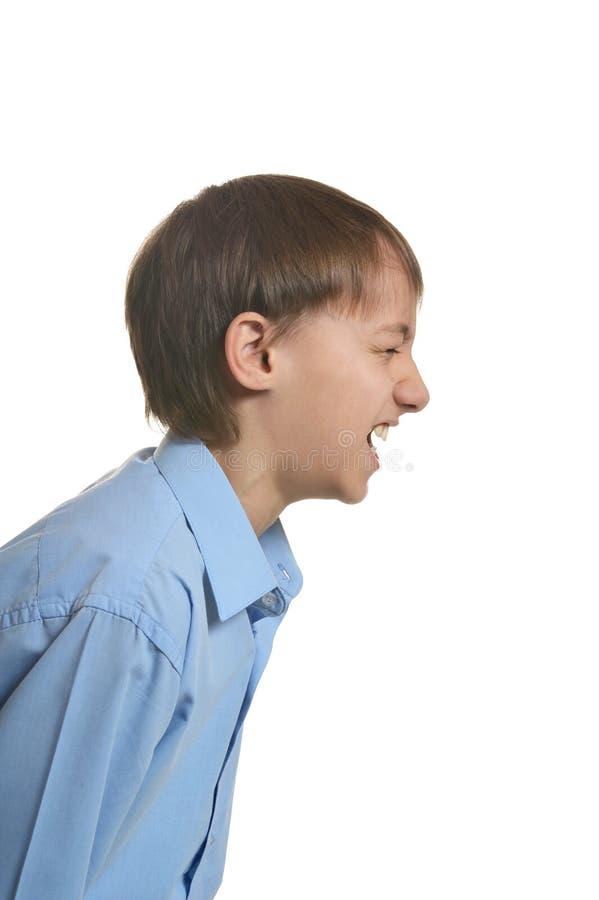 Garçon fâché criant photo libre de droits
