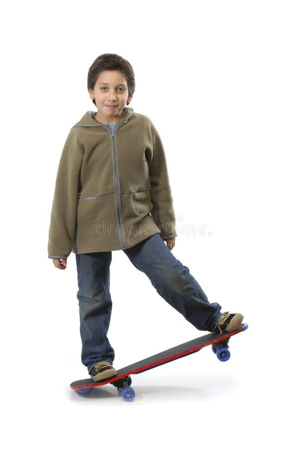 Garçon frais de patineur photo libre de droits