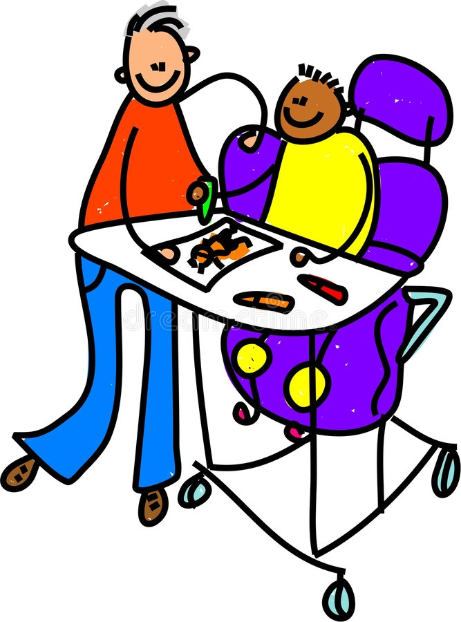 Garçon handicapé illustration stock