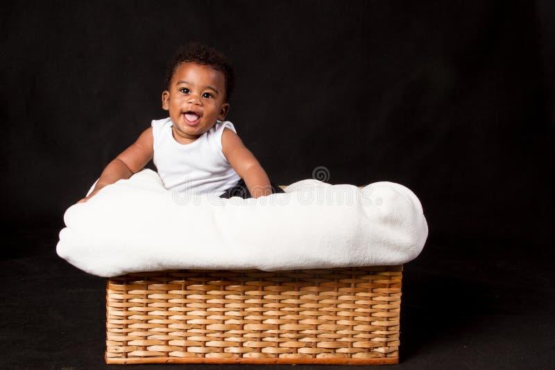 Garçon heureux d'afro-américain photo stock