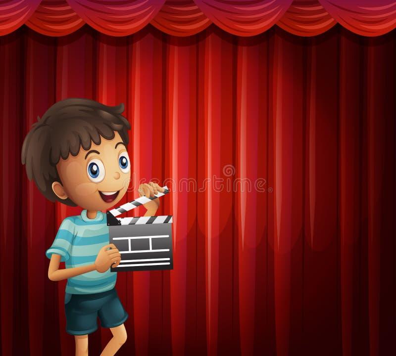 Garçon heureux tenant le bardeau illustration libre de droits