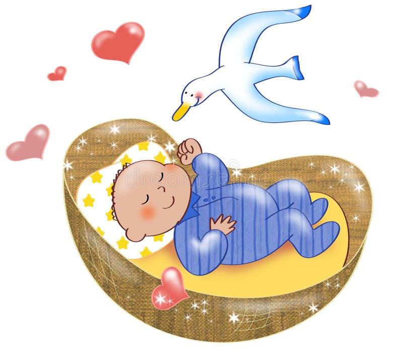 Garçon nouveau-né illustration libre de droits